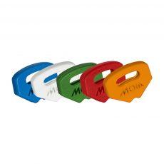 Impugnature in plastica in diversi colori - chiavi per serrature a pompa e doppia mappa